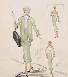 pictures of edith head designs   cardinales:Edith Head's design for Grace Kelly in Rear Window ...