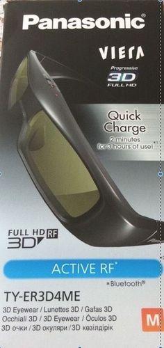 BRAND NEW IN BOX, 3D PANASONIC ACTIVE SHUTTER RECHARGABLE EYEGLASSES, TY ER3D4MU #Panasonic