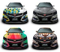 NKS wraps Civic Hatchback 2017, Honda Civic Sport, Honda City, Lux Cars, Honda Jazz, Weird Cars, Subaru Wrx, Sport Cars, Jdm