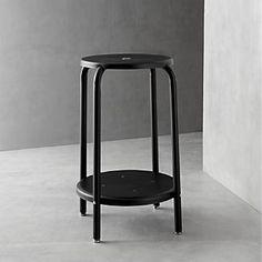 Cramer® Black 24 Stool I Crate and Barrel