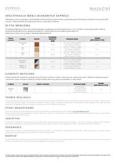 Cennik mebli biurowych EXPRESS 2016 | Fabryka Mebli Biurowych Massoni, produkcja, projektowanie