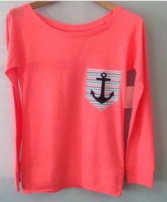 Nautical coral comfy shirt from wanelo.