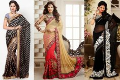 saree for women blessed with pear shape