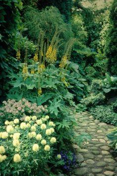 Sommerdrømme kan man have hele året, men måske i særlig grad i vinterhalvåret, hvor man kan bruge drømmene til at lune sig på. Men det ... Stone Garden Paths, Stone Path, Garden Stones, Partial Shade Plants, Garden Borders, Landscaping Plants, Garden Inspiration, Garden Ideas, Bruges