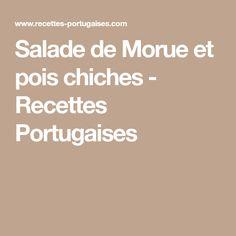 Salade de Morue et pois chiches - Recettes Portugaises
