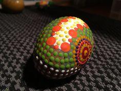 Egg, at Sol de La India. Hand painted at home, Panama City.