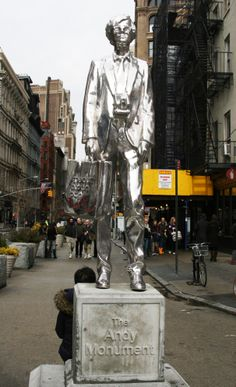 Andy Warhol Monument – Union Square, NYC. This is close to where the second Factory was located.