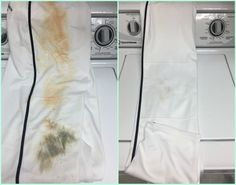 DIY Miracle Stain Remover Before After - green and non toxic!