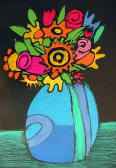 Glue first, then colored sticks  Artsonia Art Museum :: Artwork by Zane134