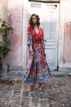 Lotus Kimono Gown - Ruby Buy Online Now!
