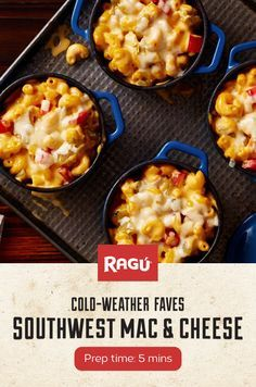 Classic Mac & Cheese makes a run for the border in our cheesy, spicy Southwest Mac & Cheese.