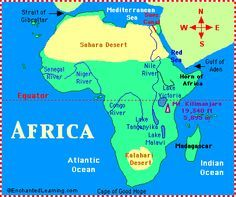 Great resources for teaching or reviewing African Geography