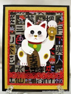 Creations by Patti: Lucky Kitty Wobble Card