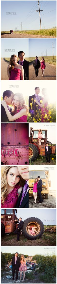 sweet engagement session. Forget the tractor and it looks like a session in my natural habitat