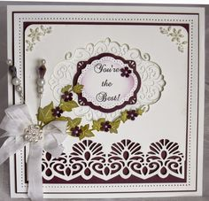 PartiCraft (Participate In Craft): Classic Filigree Aperture. 10/03/2015 Hand Made Greeting Cards, Making Greeting Cards, Sue Wilson Dies, Spellbinders Cards, Ppr, Die Cut Cards, Pretty Cards, You're Awesome, Creative Cards