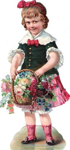 Oblaten Glanzbild scrap chromo die cut  Mädchen XL 21,3cm girl child Kind fille: