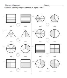 Descargar ejercicio para comparar fracciones gráficamente