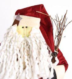Christmas Olde World Santa Doll - Primitive Dolls - Primitive Decor Primitive Santa, Primitive Decor, Santa Christmas, Christmas Ornaments, Doll Toys, Dolls, Santa Doll, Christmas Decorations, Holiday Decor