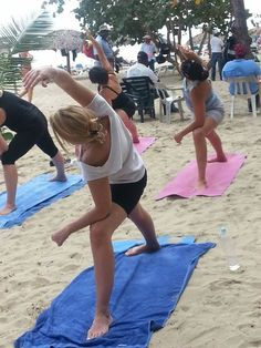 NRG2GO Yoga on the beach with Benita Raponi at Gran Ventana Beach Resort. We're fit to travel!!