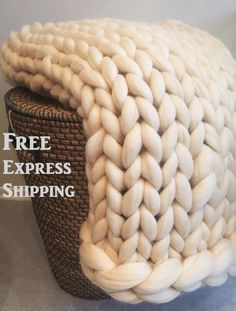 Hey, I found this really awesome Etsy listing at https://www.etsy.com/listing/257982568/sale-chunky-knit-blanket-blanket-super