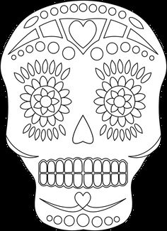 This Sugar Skull Is Ideal for Your Day of the Dead Crafting Projects: Sugar Skull Digital Stamp