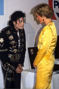 July 18, 1988: Princess Diana with Michael Jackson at the Michael Jackson Concert in aid of the Prince's Trust at Wembley.