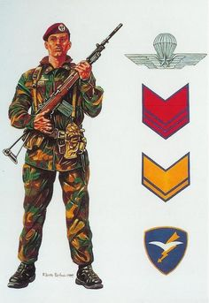 """Esercito Italiano - Paracadutista della Brigata """"Folgore"""", 1989"""