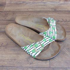 SIZE UK 7 7.5 BIRKENSTOCK PAPILLIO LUCKY CLOVER MADRID BIRKO-FLOR SANDALS SHOES | eBay