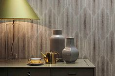 Textile Wallcovering Made With Linen And Metallic Fibers.