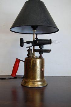 Two way blowtorch lamp by KilowattsCreations on Etsy, $100.00