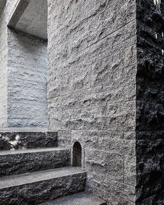 """B.E Architecture (@b.e_architecture) on Instagram: """"Solid stone details shift from rough to honed. #architecture #materiality #granite #melbourne"""""""