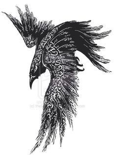 Raven tattoo. Best one so far !!!!!!:                                                                                                                                                                                 More