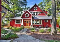 -my little mansion was nestled there in the trees...just so you know, Heaven is filled with cottages basking in red apple sunshine.