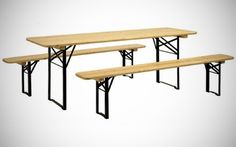Set Birreria tavolo e 2 panche in legno di prima qualità foto 1