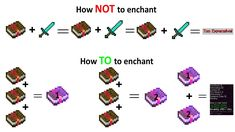 How to correctly enchant items in Minecraft – smartgames Minecraft Cheats, Minecraft Video Games, Minecraft Plans, Minecraft Survival, Minecraft Tutorial, Minecraft Blueprints, Minecraft Houses, How To Play Minecraft, Minecraft Images