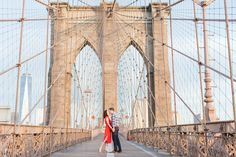 A Brooklyn Bridge & Dumbo NYC Engagement Session Photographed by Katelyn James Photography
