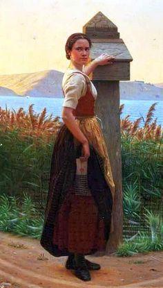 Christen Dalsgaard (Danish, 1824 – 1907) - mailing a letter