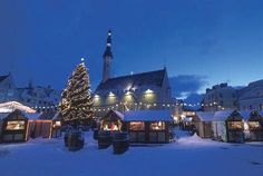 Christmas market at Town Hall square