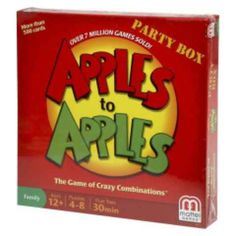 Apples To Apples Party Box for 4-8 Players