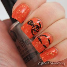 Jelly sandwich skeleton manicure  #nail #nails #manicure #fall #stamping #halloween #skeleton #jellysandwich