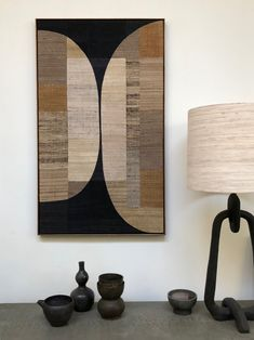 collage of individually dyed pieces of handwoven khadi silk, mounted on wood.hardwood framesize: 81 x Wall Art Designs, Design Art, Scandinavian Art, Mid Century Art, Home And Deco, New Wall, Textile Art, Decoration, Illustrations