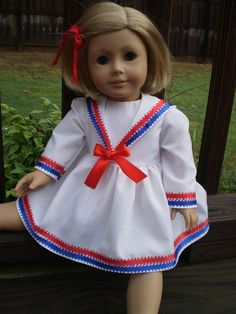 Sailor Dress 18 American Girl Doll Clothes by sassydollcreations, $18.99