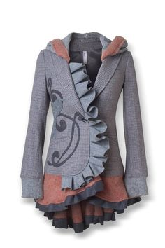 Just a gorgeous jacket. I could do without sone of the frills but the design is great.skip the hoodie.
