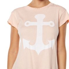 NWOT Wildfox Desert Anchor Tee Super soft and creamy material. Size XS but it's oversized like a lot of Wildfox products so it can fit S-M as well. Retails at $71! Great condition, worn once. Comes with freebies! Pick up this perfect spring/summer item today  Wildfox Tops Tees - Short Sleeve
