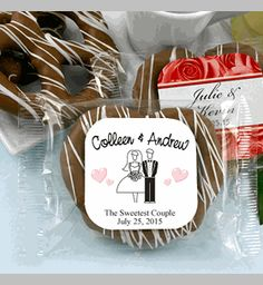 Gourmet Wedding Chocolate Pretzel Favors (Many Designs) Wedding Favors Unlimited, Affordable Wedding Favours, Food Wedding Favors, Chocolate Wedding Favors, Creative Wedding Favors, Wedding Favors For Guests, Bridal Shower Favors, Practical Wedding, Casual Wedding