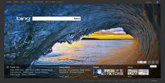 Bing Homepage | The Bing homepage has been Metrofied