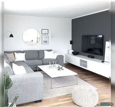 As the social facility of the residence, the living room plays several duties. The sofa and also floor covering must play a significant function in the option of living room paint colors. Casual Living Rooms, Living Room White, Paint Colors For Living Room, White Rooms, Living Room Modern, Room Colors, Living Room Designs, Living Room Decor, Small Living