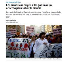 Los científicos exigen a los políticos un acuerdo para salvar la ciencia / @materia_ciencia | #sinciencianohayfuturo