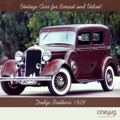 Adding to the rich flavour of celebrations is the latest trend of using vintage cars for Baraat and Vidaii!