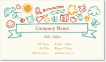 childcare coloring Standard Business Cards